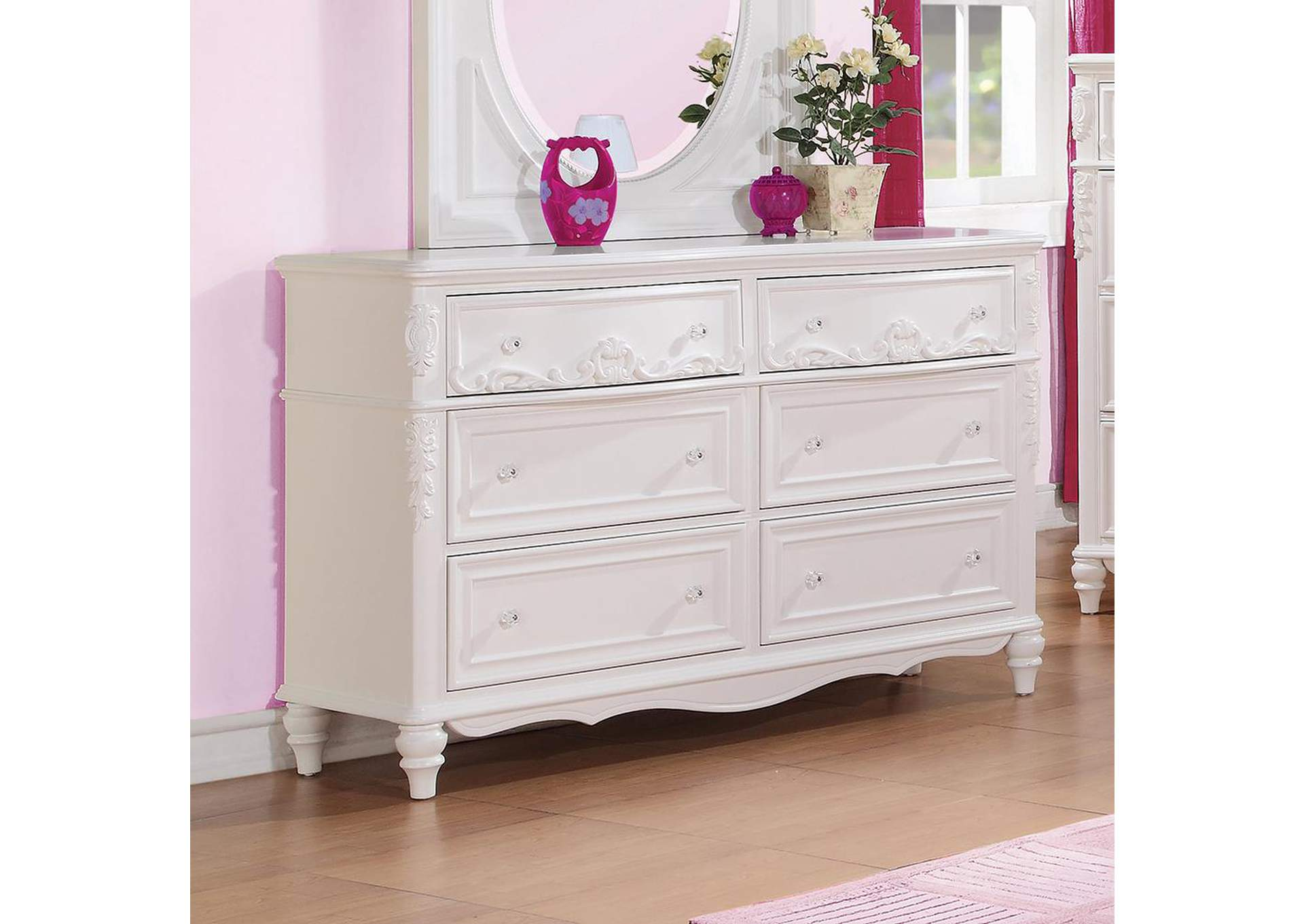 White Dresser,ABF Coaster Furniture