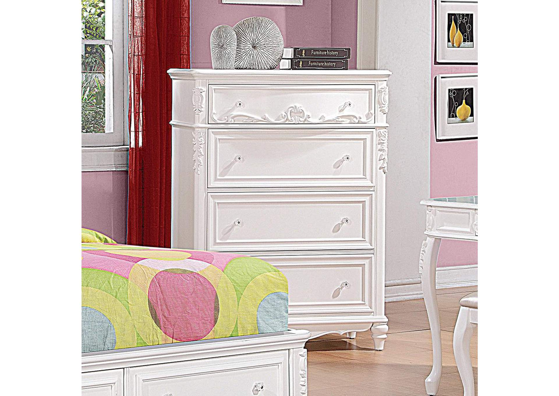 Caroline White Chest,Coaster Furniture