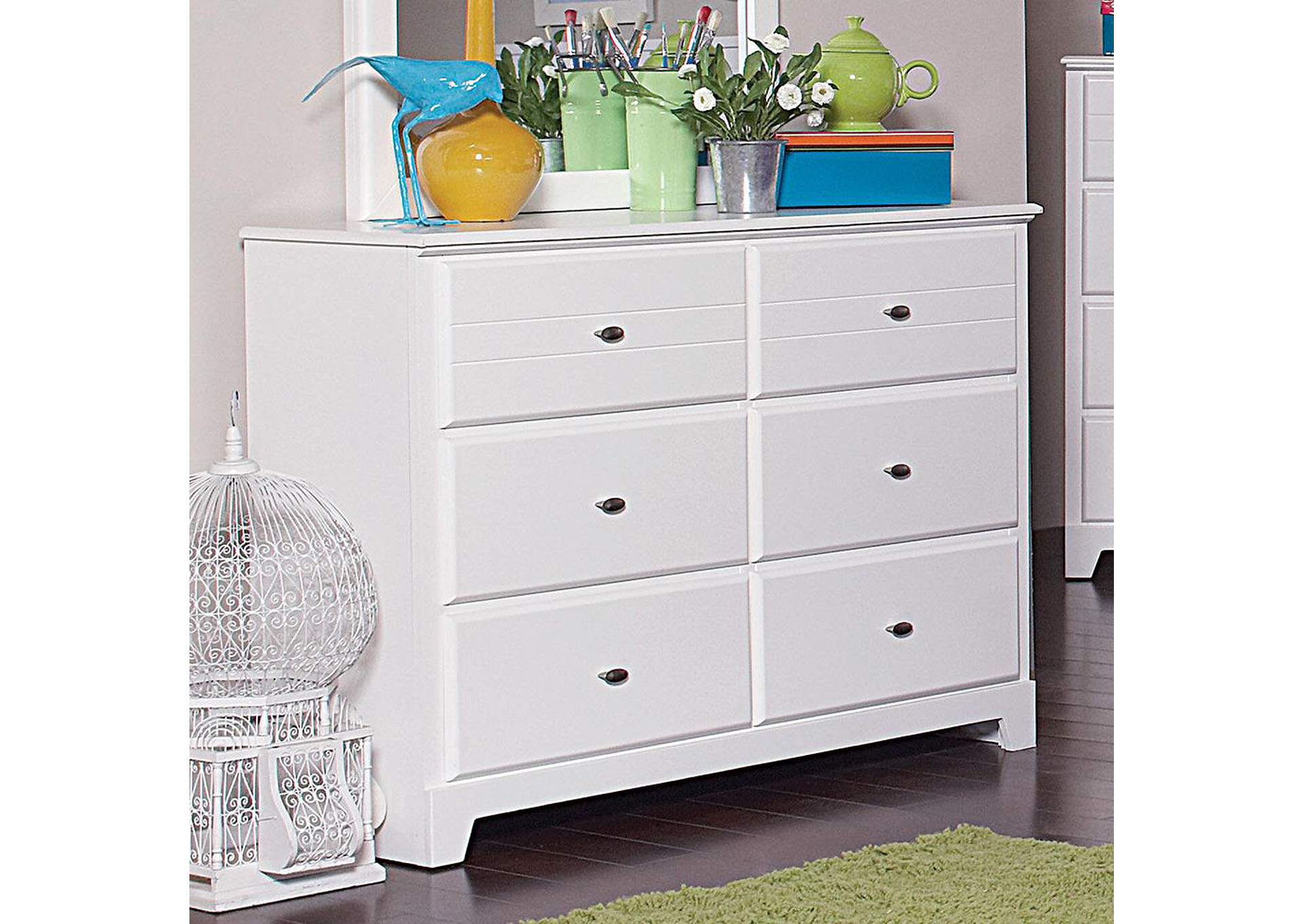 White Dresser,Coaster Furniture