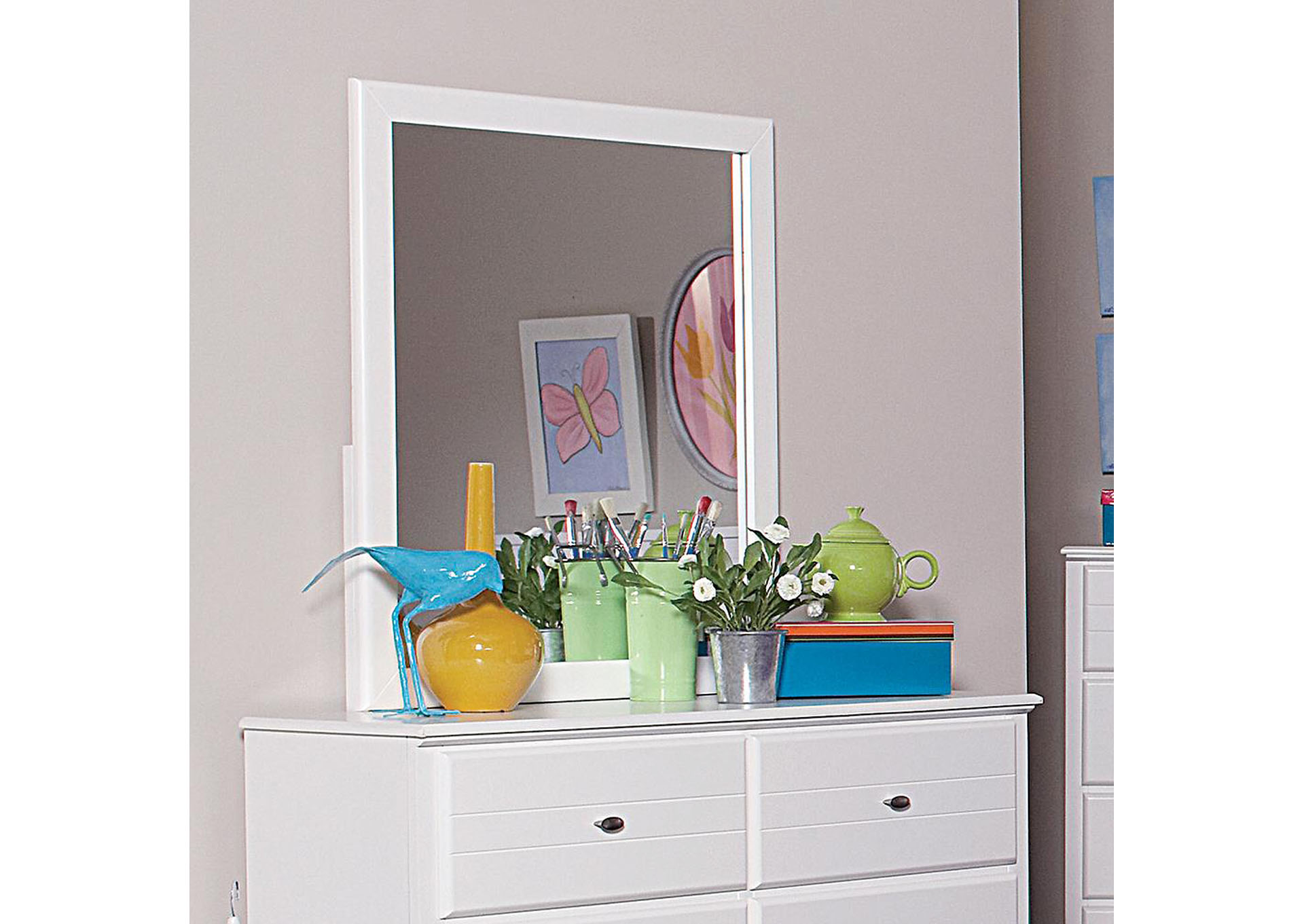 Ashton White Mirror,Coaster Furniture