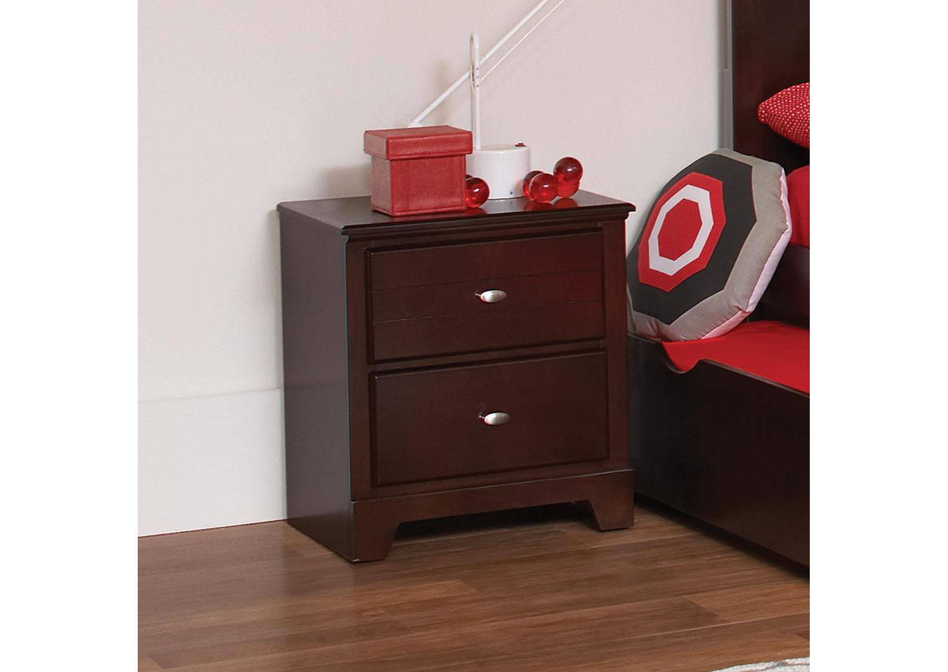 Ashton Cappuccino Nightstand,Coaster Furniture