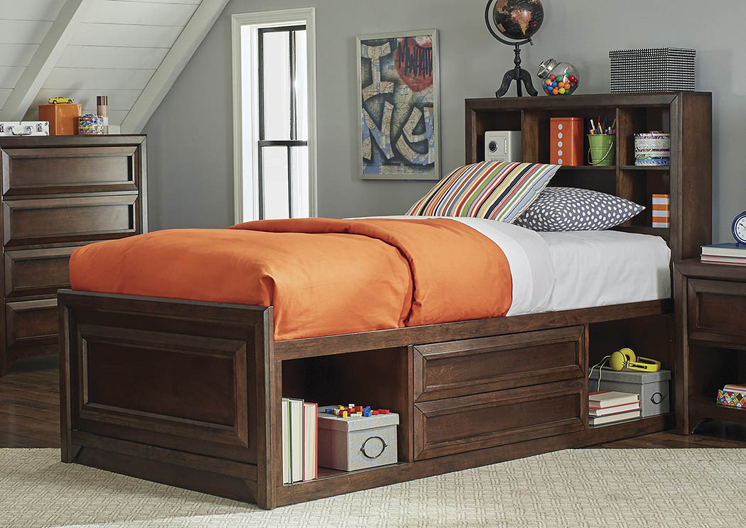 Maple Oak Twin Bed,Coaster Furniture