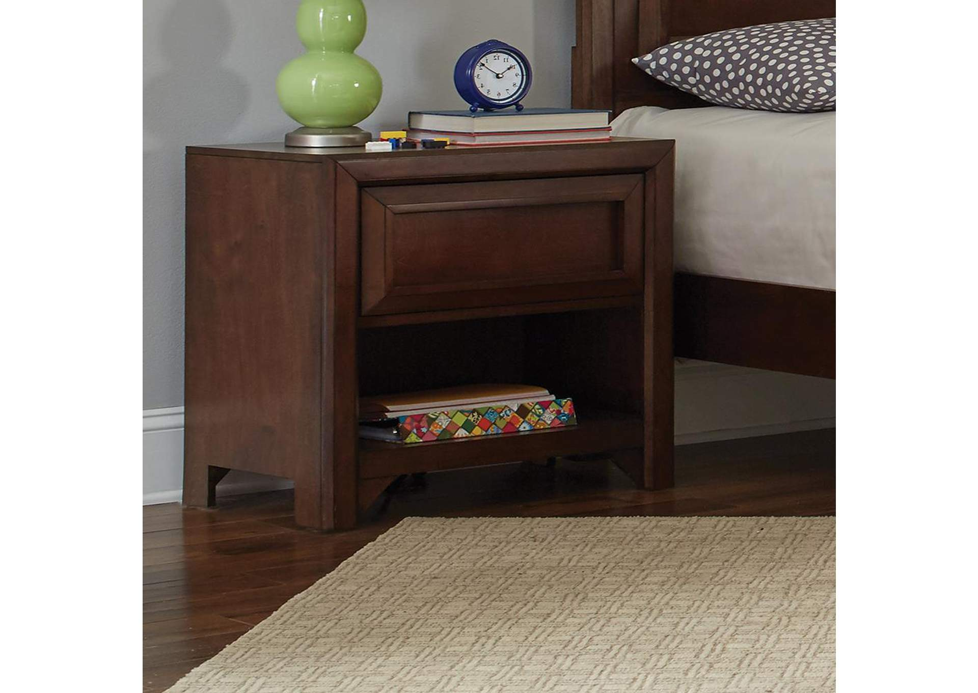 Greenough Cappuccino Nightstand,Coaster Furniture