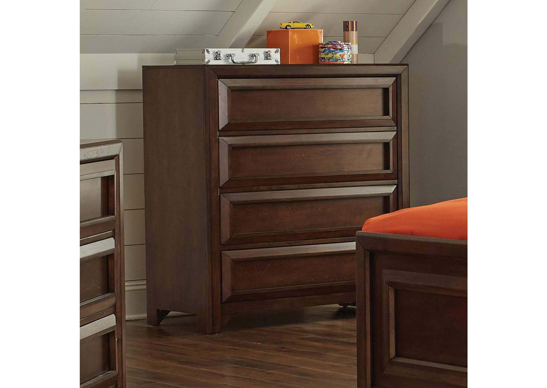 Greenough Cappuccino Four-Drawer Chest,Coaster Furniture