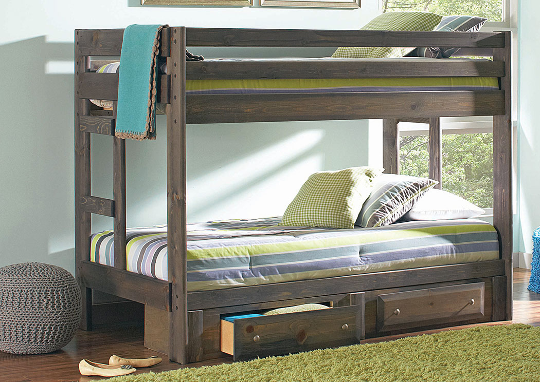 Wrangle Hill Gunsmoke Twin/Twin Bunk Bed,Coaster Furniture