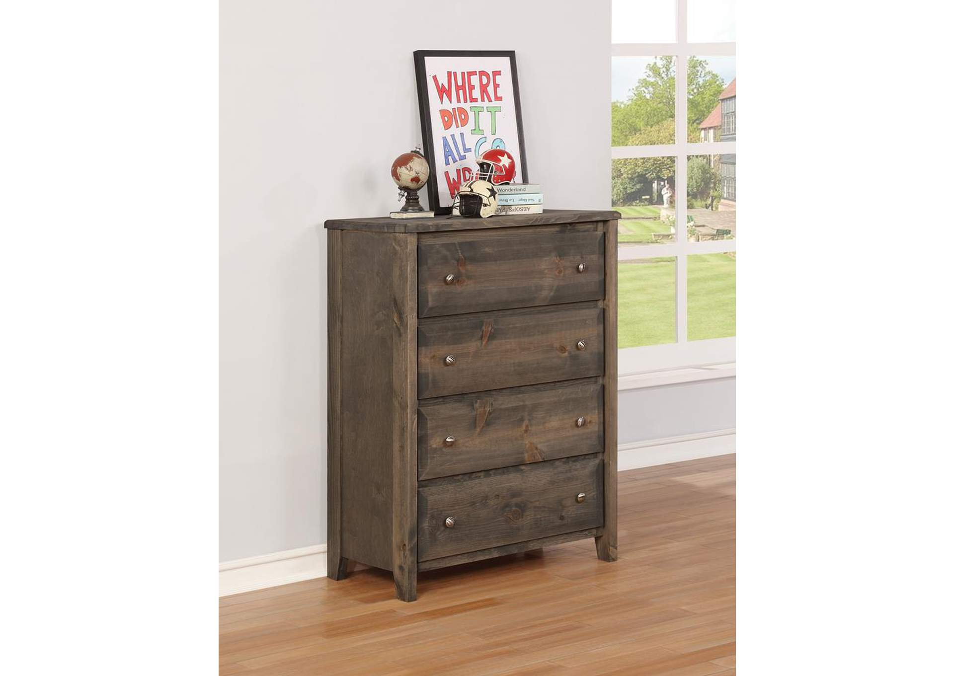 Wrangle Hill Gunsmoke Four-Drawer Chest,Coaster Furniture