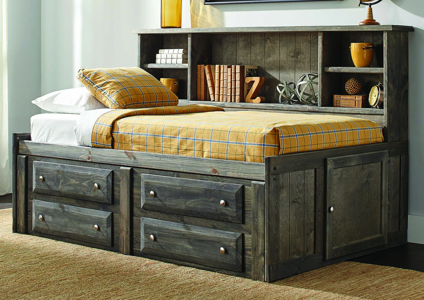 Rustic Gun Smoke 4-drawer Under-dresser,Coaster Furniture