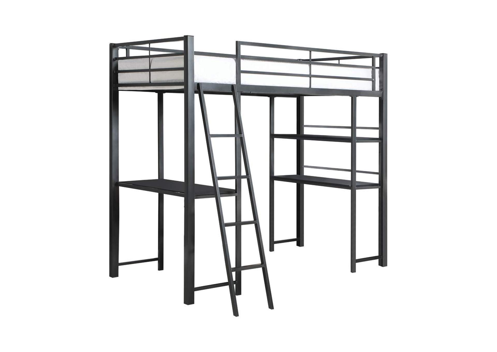 Mine Shaft Twin Workstation Loft Bed,Coaster Furniture