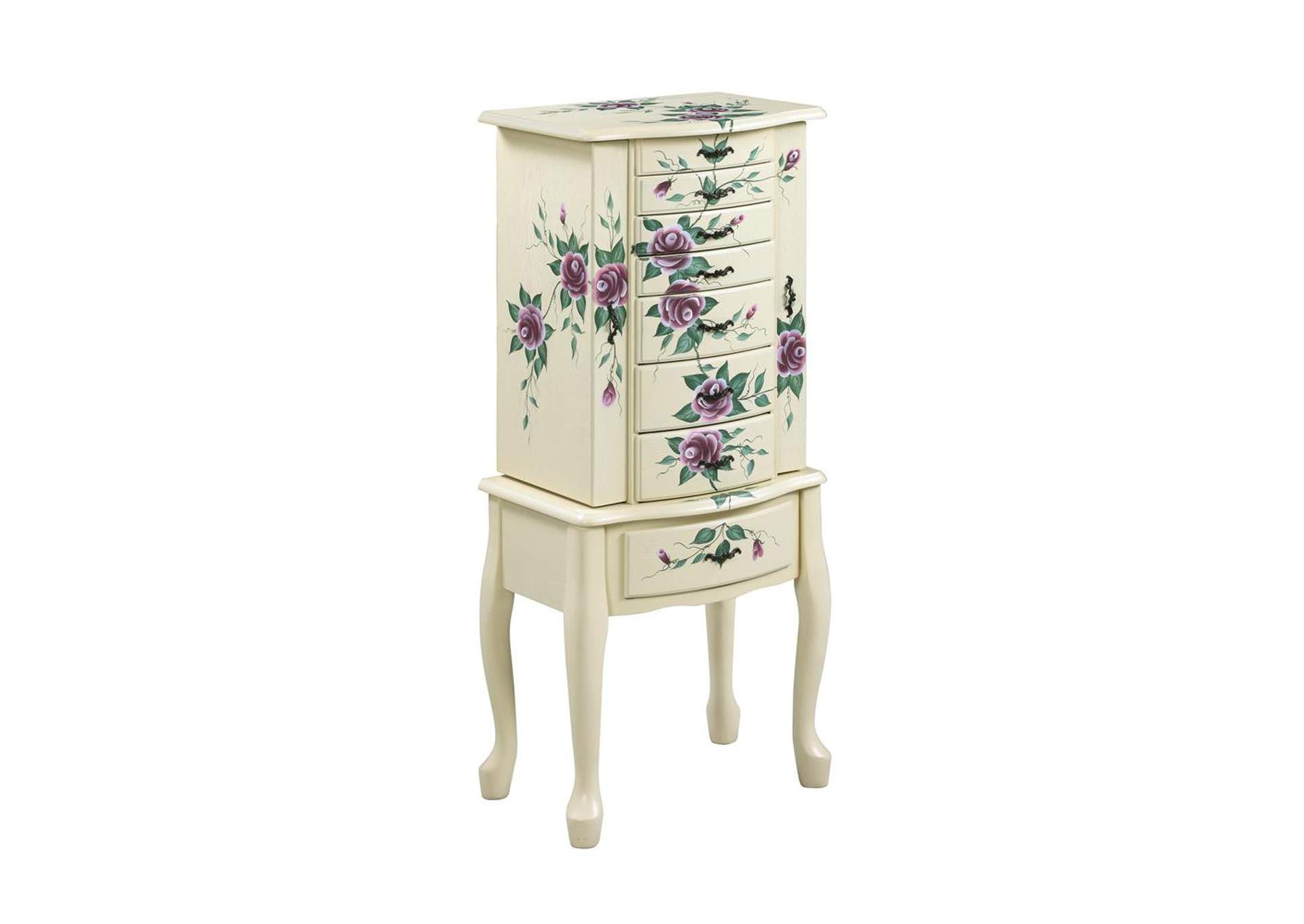 Accents Off-White Jewelry Armoire,Coaster Furniture