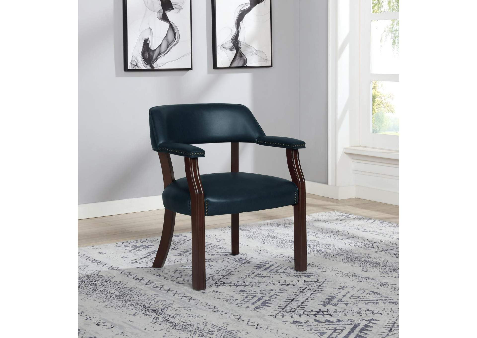 Blue Guest Chair,Coaster Furniture
