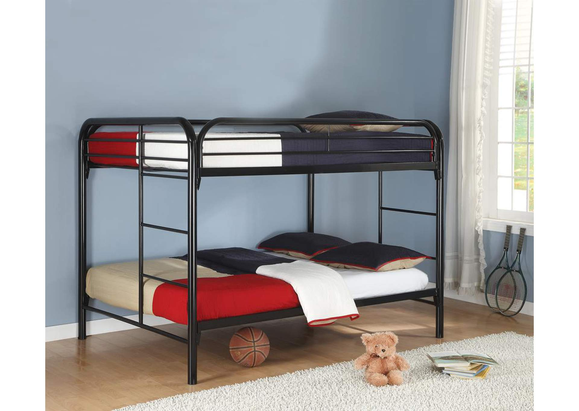 Black Full/Full Bunk Bed,Coaster Furniture