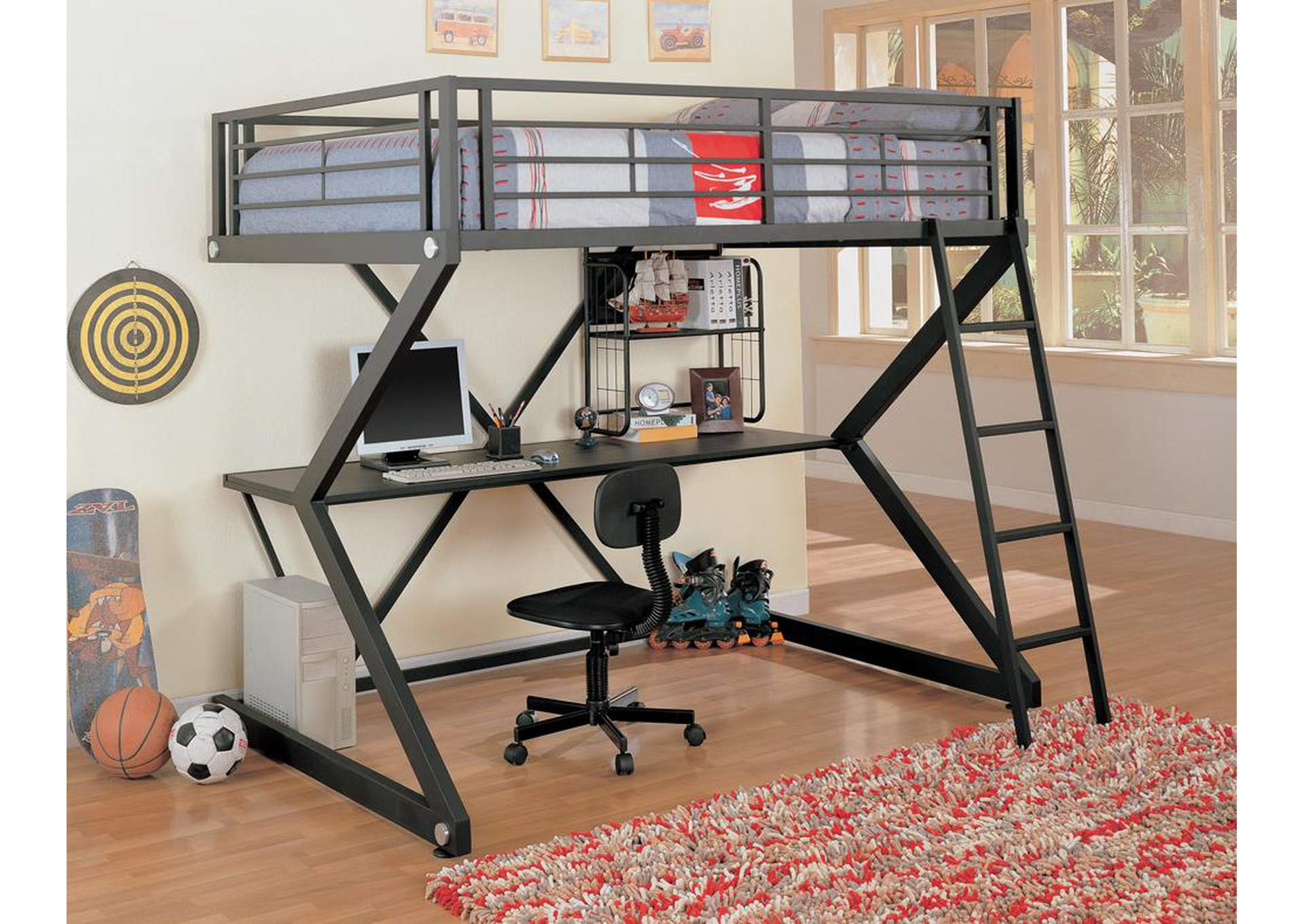 Workstation Loft Bed,Coaster Furniture
