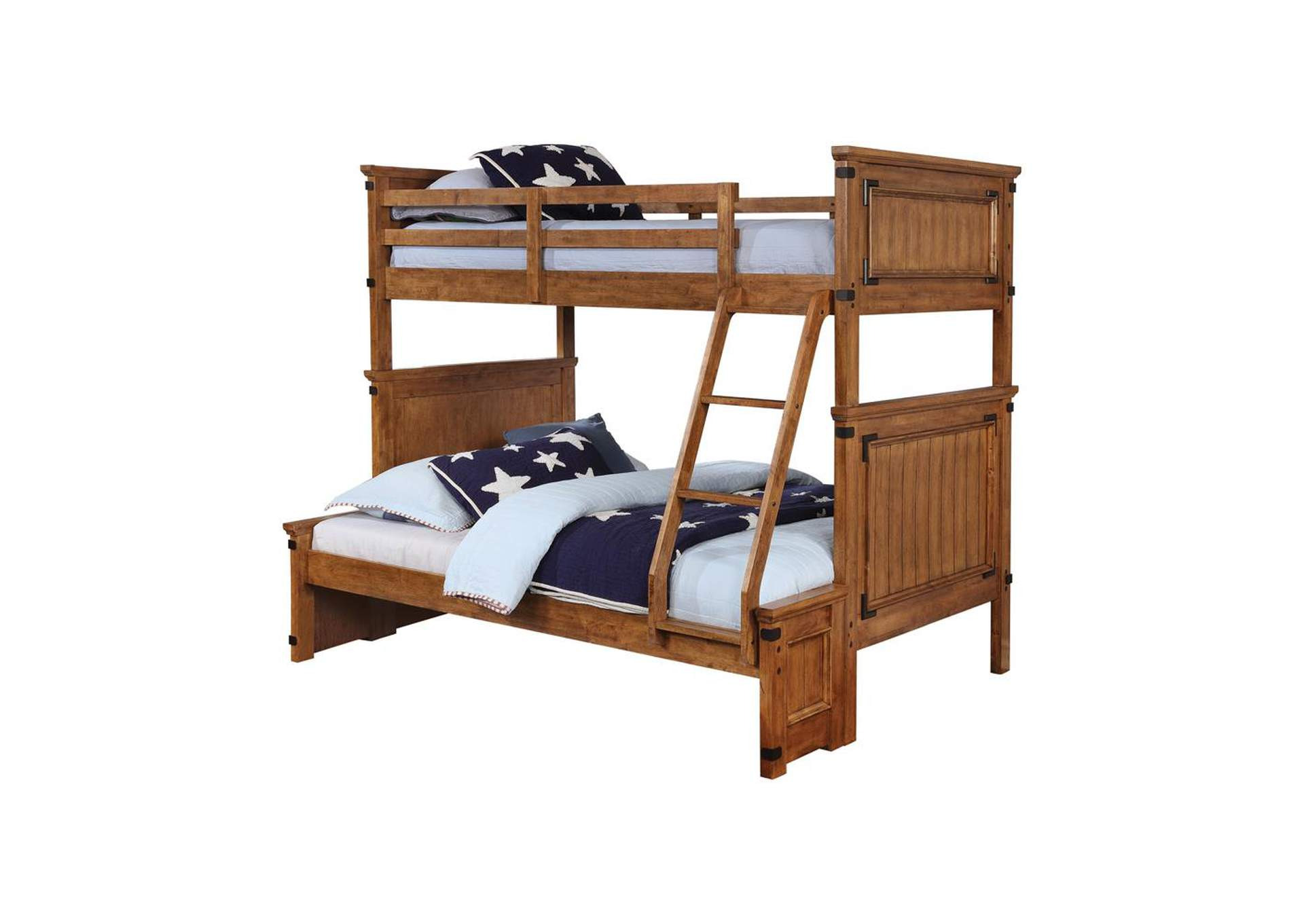 Mule Fawn Coronado Rustic Honey Twin-over-Full Bunk Bed,Coaster Furniture
