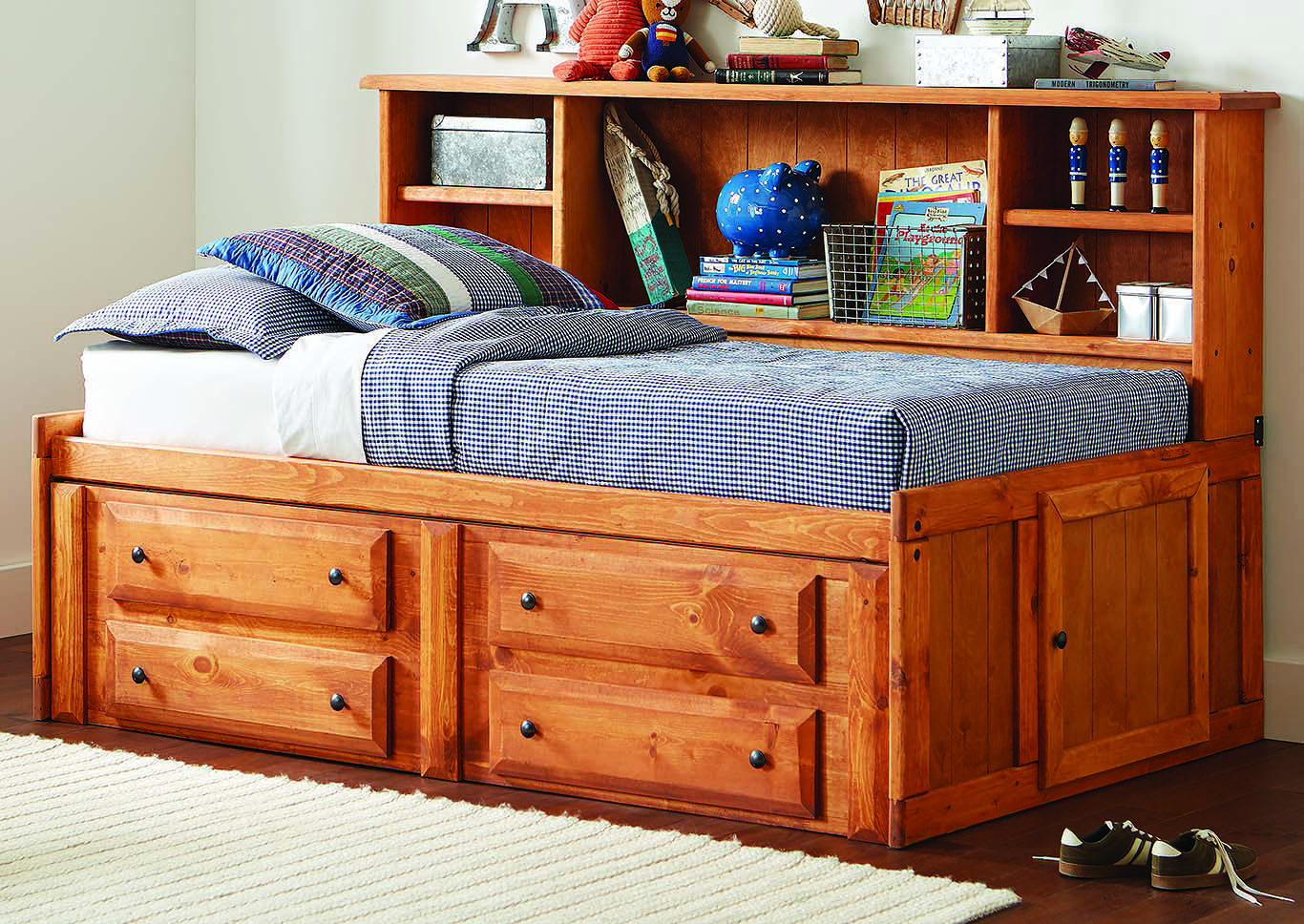 Wrangle Hill Amber Wash Twin Storage Daybed,Coaster Furniture