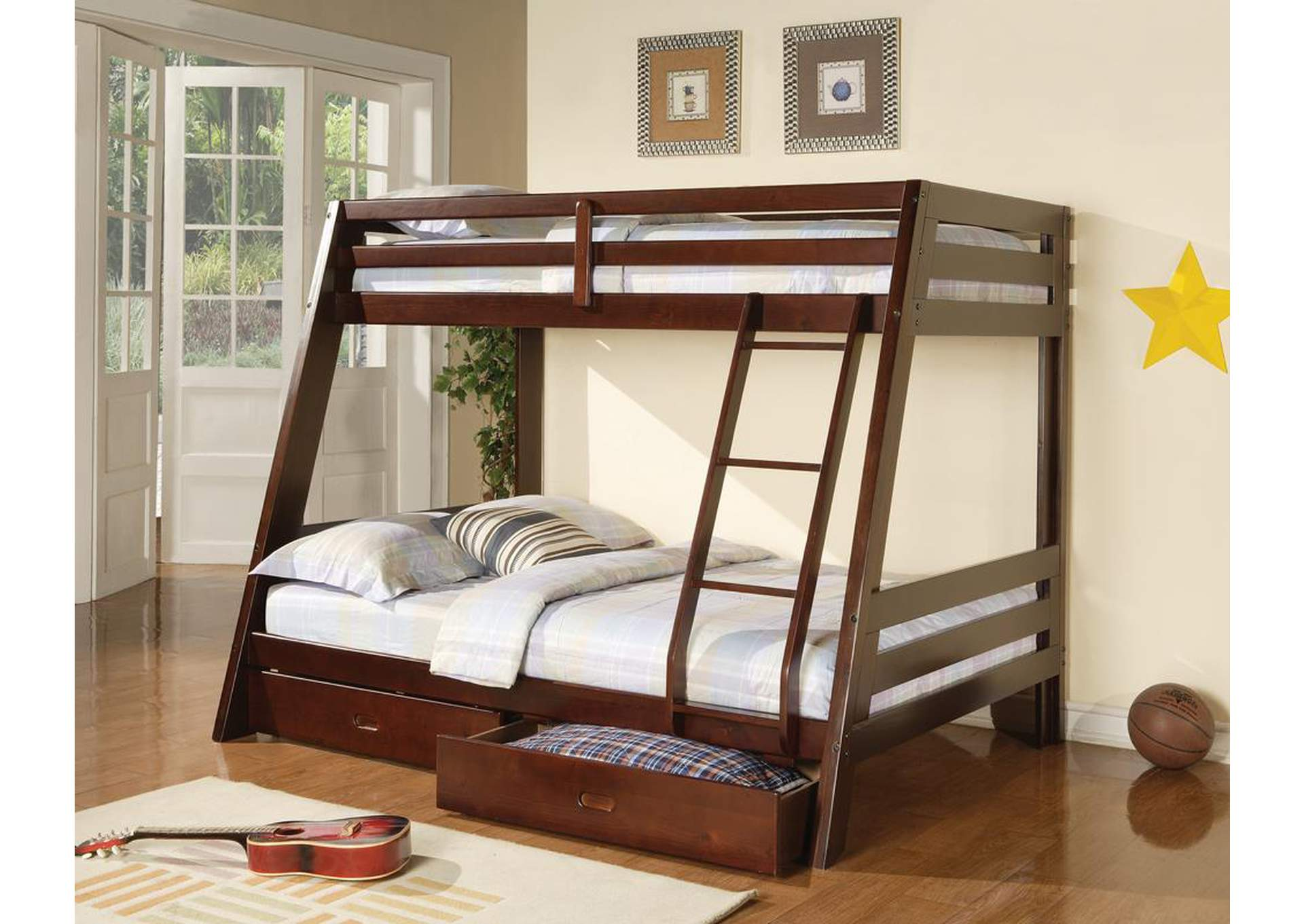 Attrayant Twin/Full Bunk Bed,Coaster Furniture