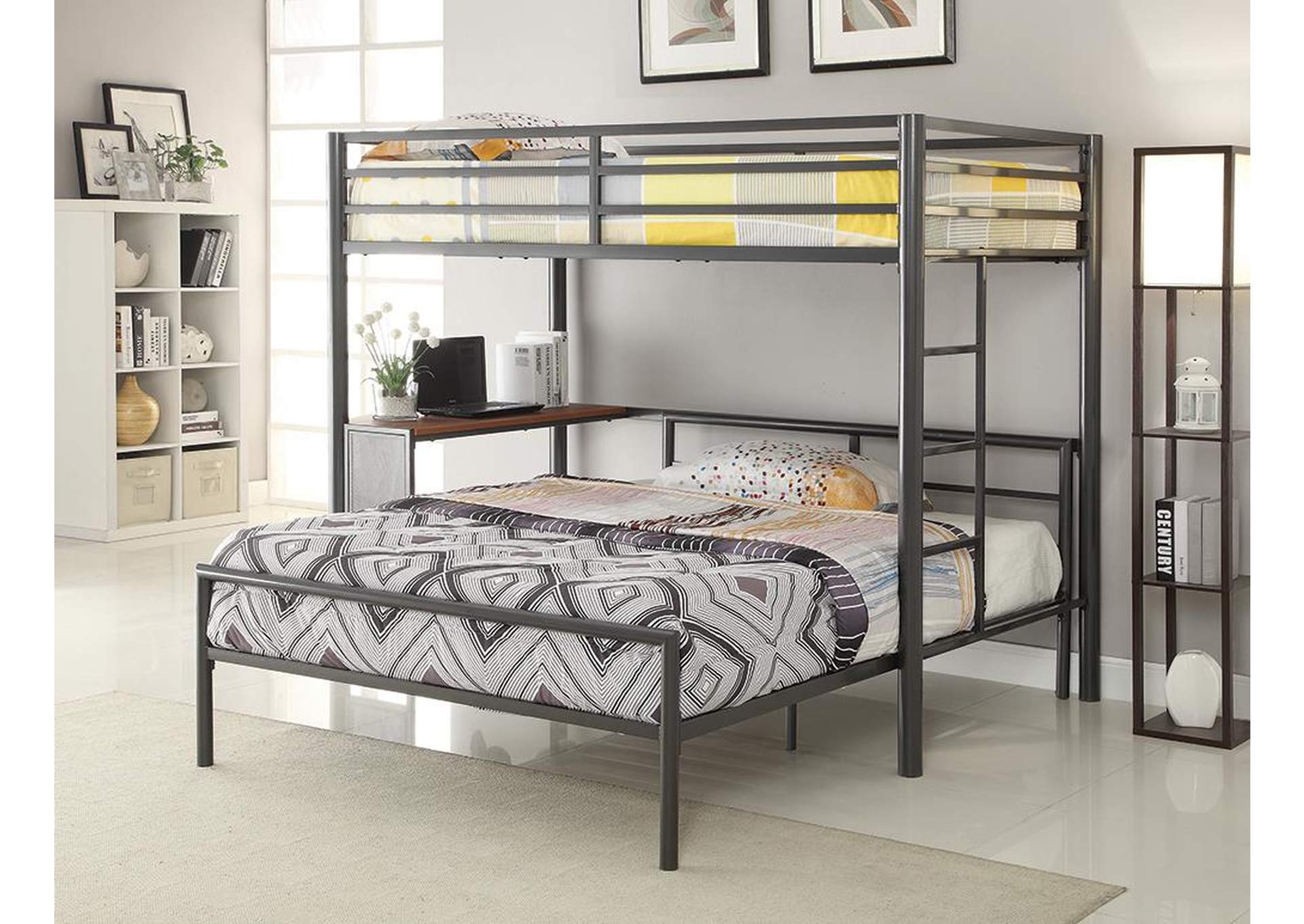 Twin Loft Bed w/Workstation,Coaster Furniture