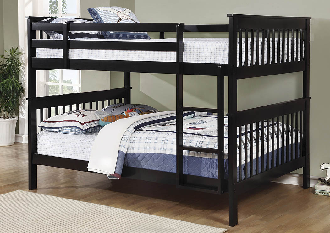 Chapman Black Full Bunk Bed,Coaster Furniture