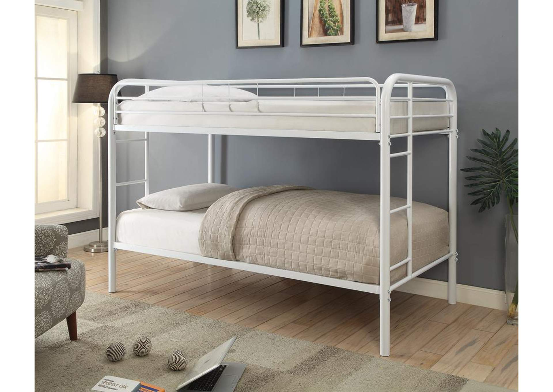 Ordinaire White Twin/Twin Bunk Bed,Coaster Furniture