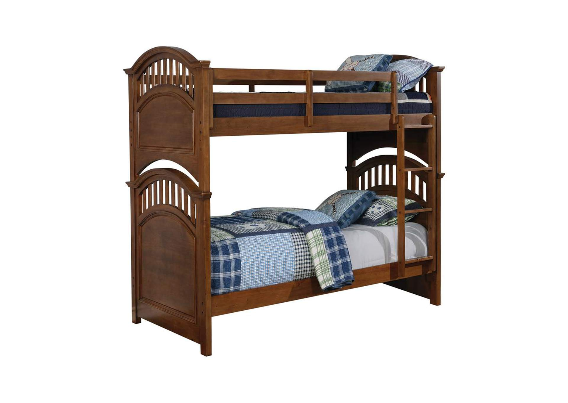 Quincy Halsted Casual Walnut Twin-over-Twin Bunk Bed,Coaster Furniture
