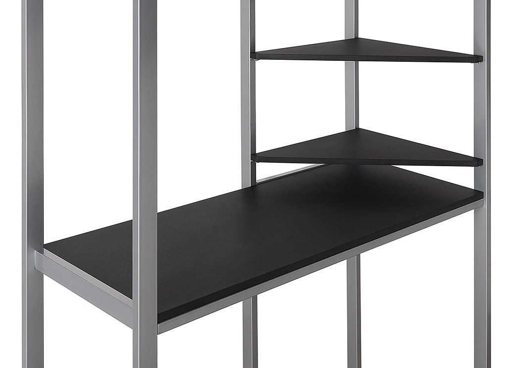 Black and Silver Twin Workstation Bed,Coaster Furniture