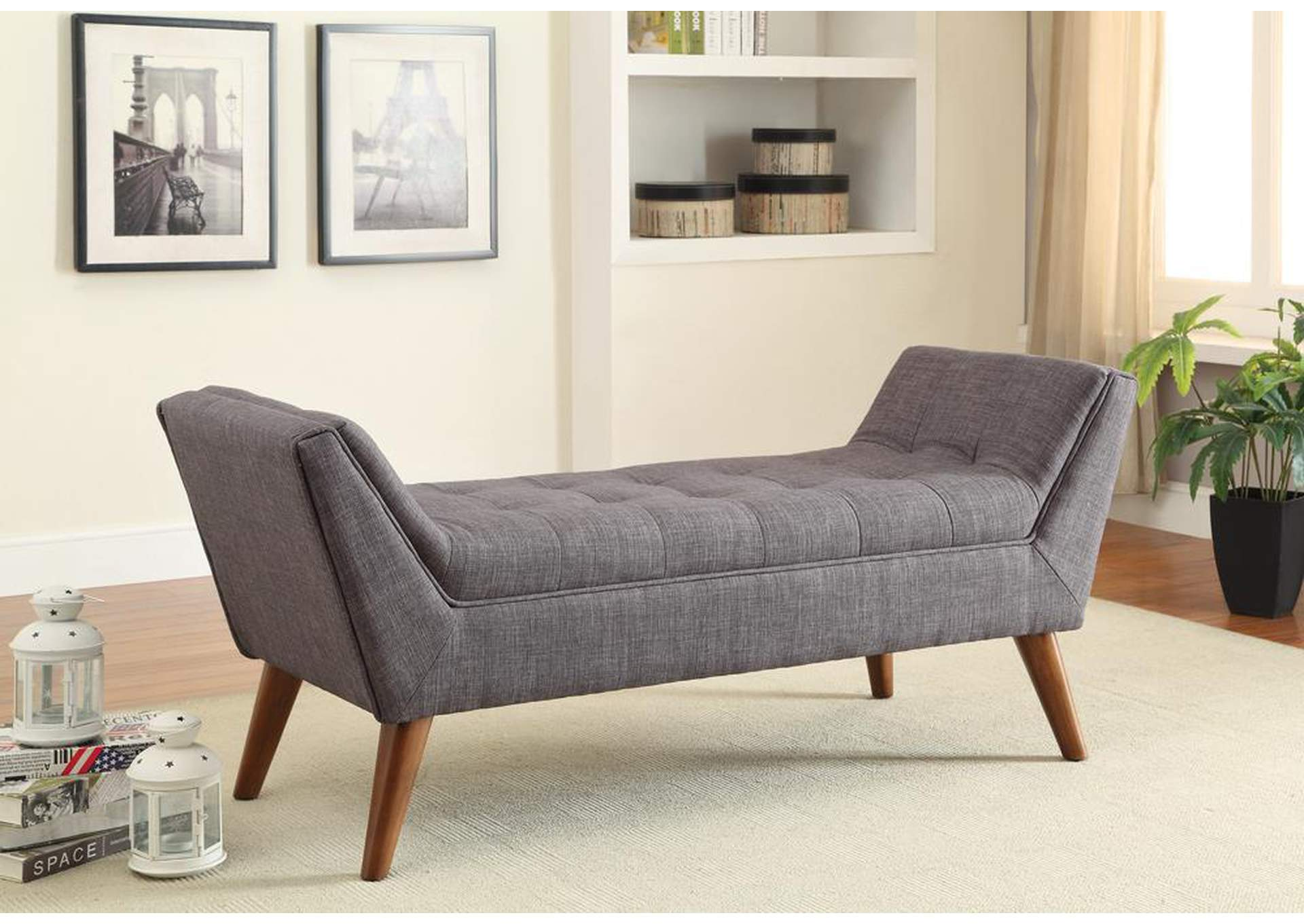 Grey Accent Bench,Coaster Furniture