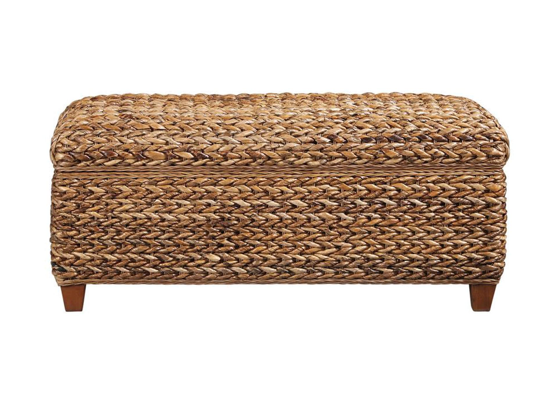 Laughton Natural Woven Banana Leaf Trunk,Coaster Furniture