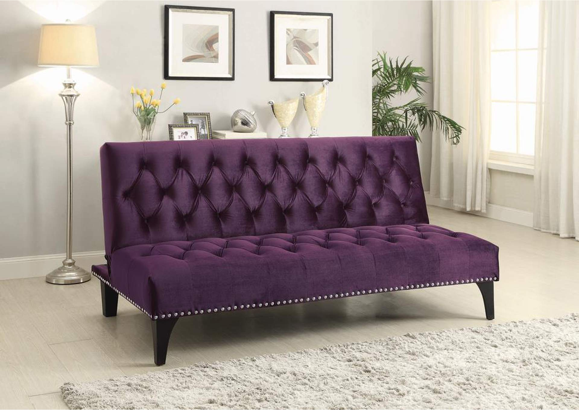 Purple Velvet Sofa Bed,Coaster Furniture