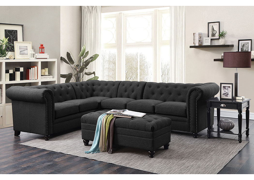 Black Sectional,Coaster Furniture