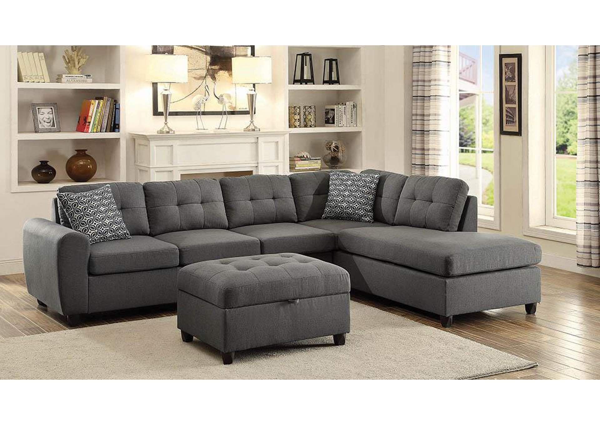 Stonenesse Grey Sectional,Coaster Furniture