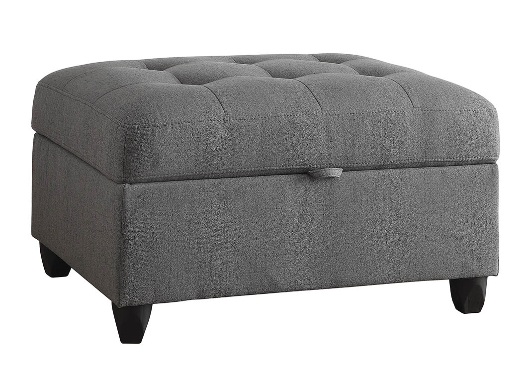 Grey Storage Ottoman,Coaster Furniture