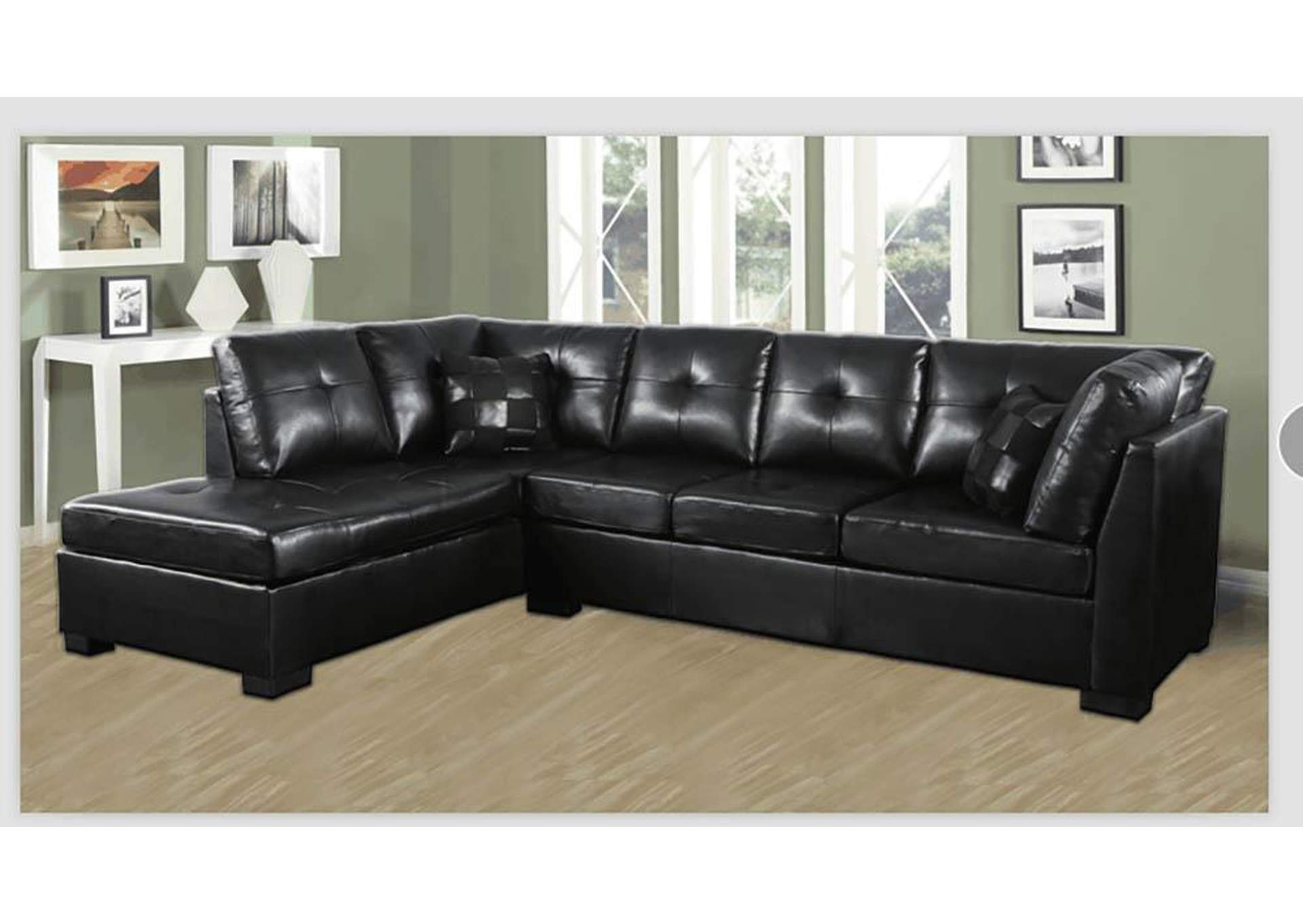 Darie Black Sectional,Coaster Furniture