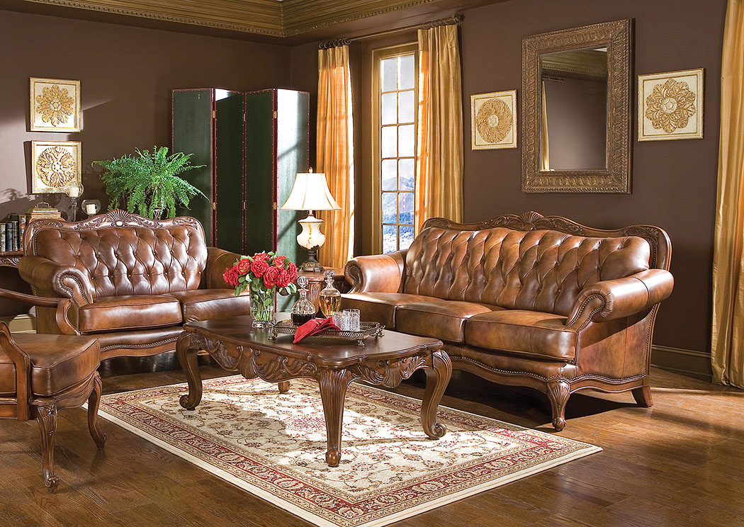 Victoria Sofa & Love Seat,Coaster Furniture
