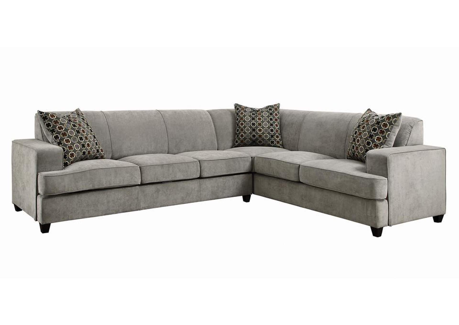 Schooner Tess Casual Grey Sectional,Coaster Furniture