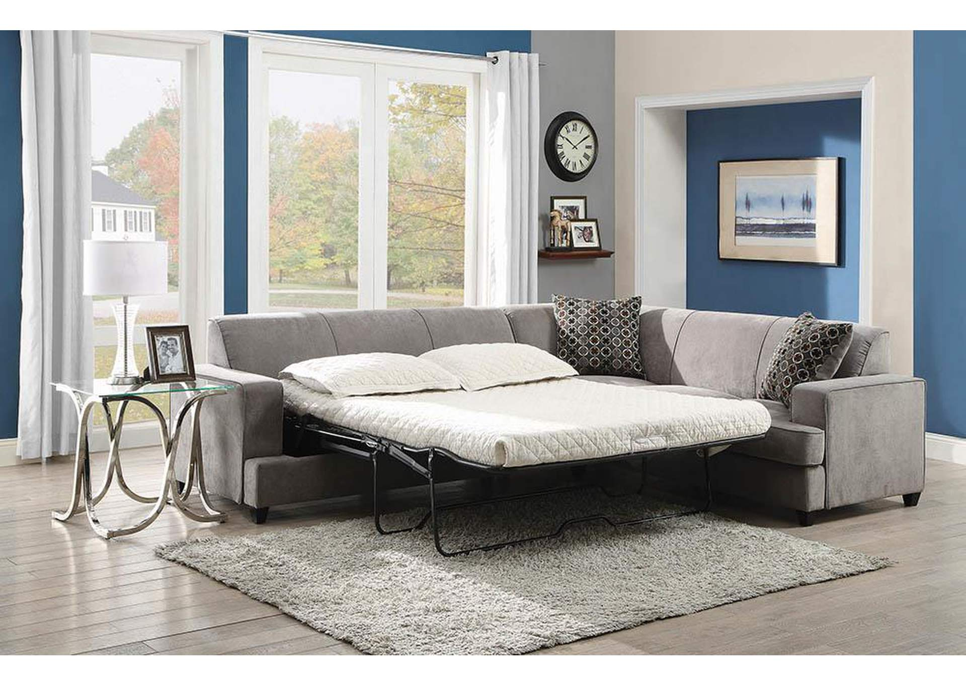 Tess Grey Sectional,Coaster Furniture