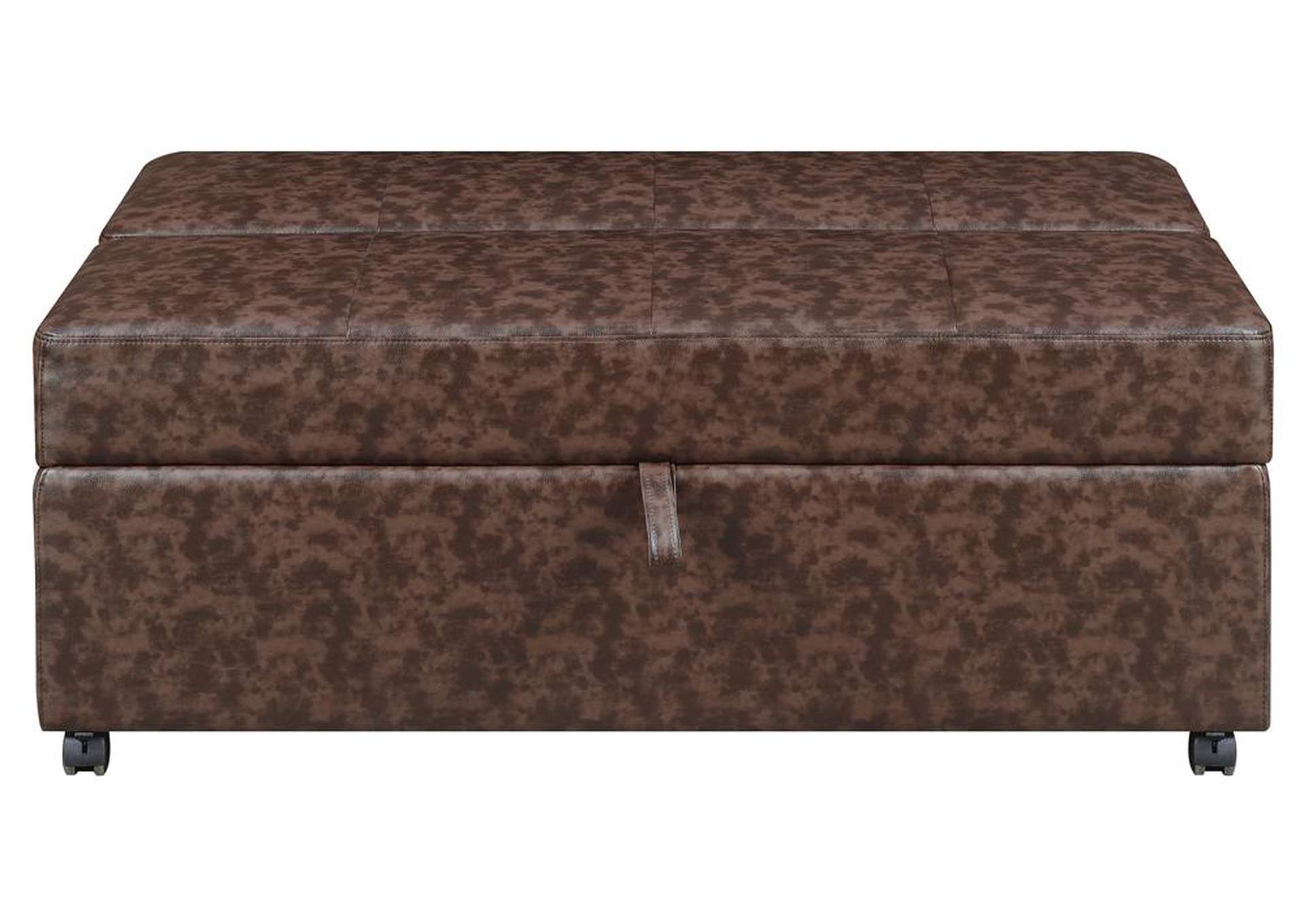 Black Casual Dark Brown Sleeper Ottoman,Coaster Furniture
