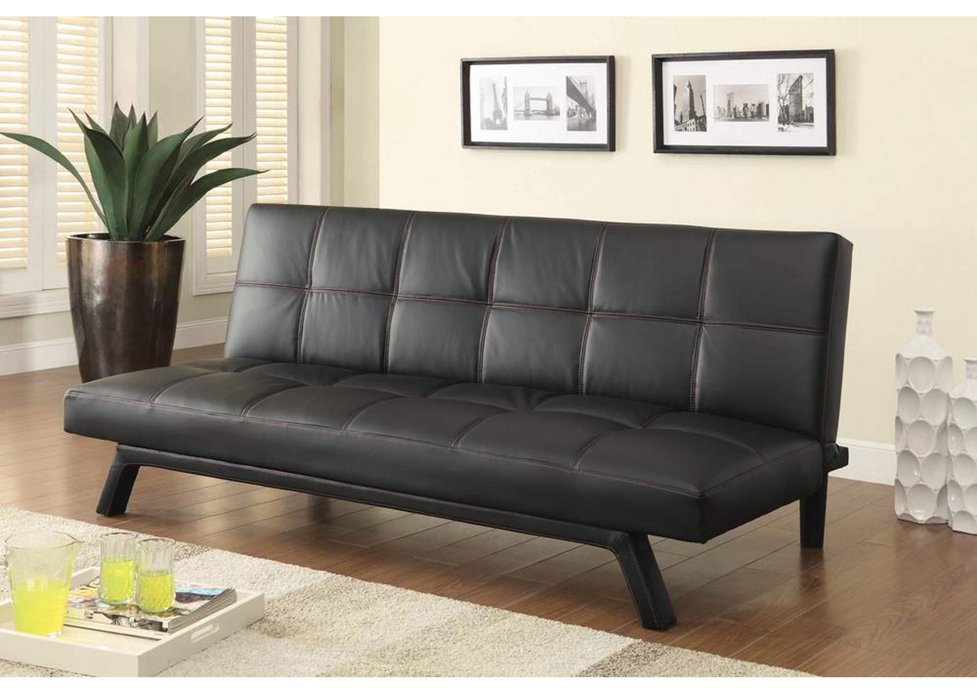 Home Stars Furniture Black Sofa Bed