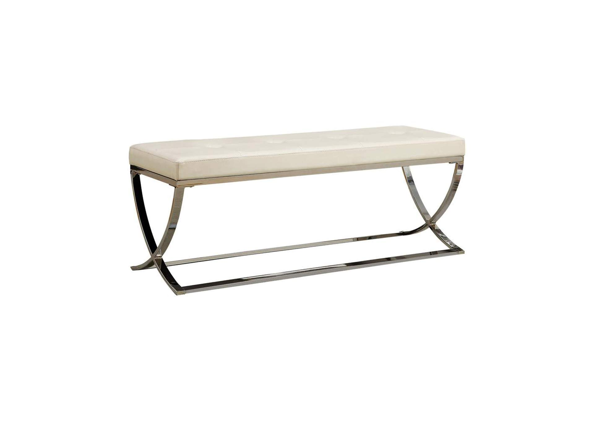 Chrome Contemporary Accent Dining Bench,Coaster Furniture
