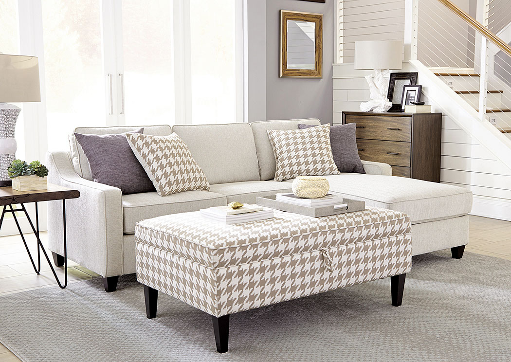 Montgomery Modern Sofa W/Track Arms And Chaise,Coaster Furniture
