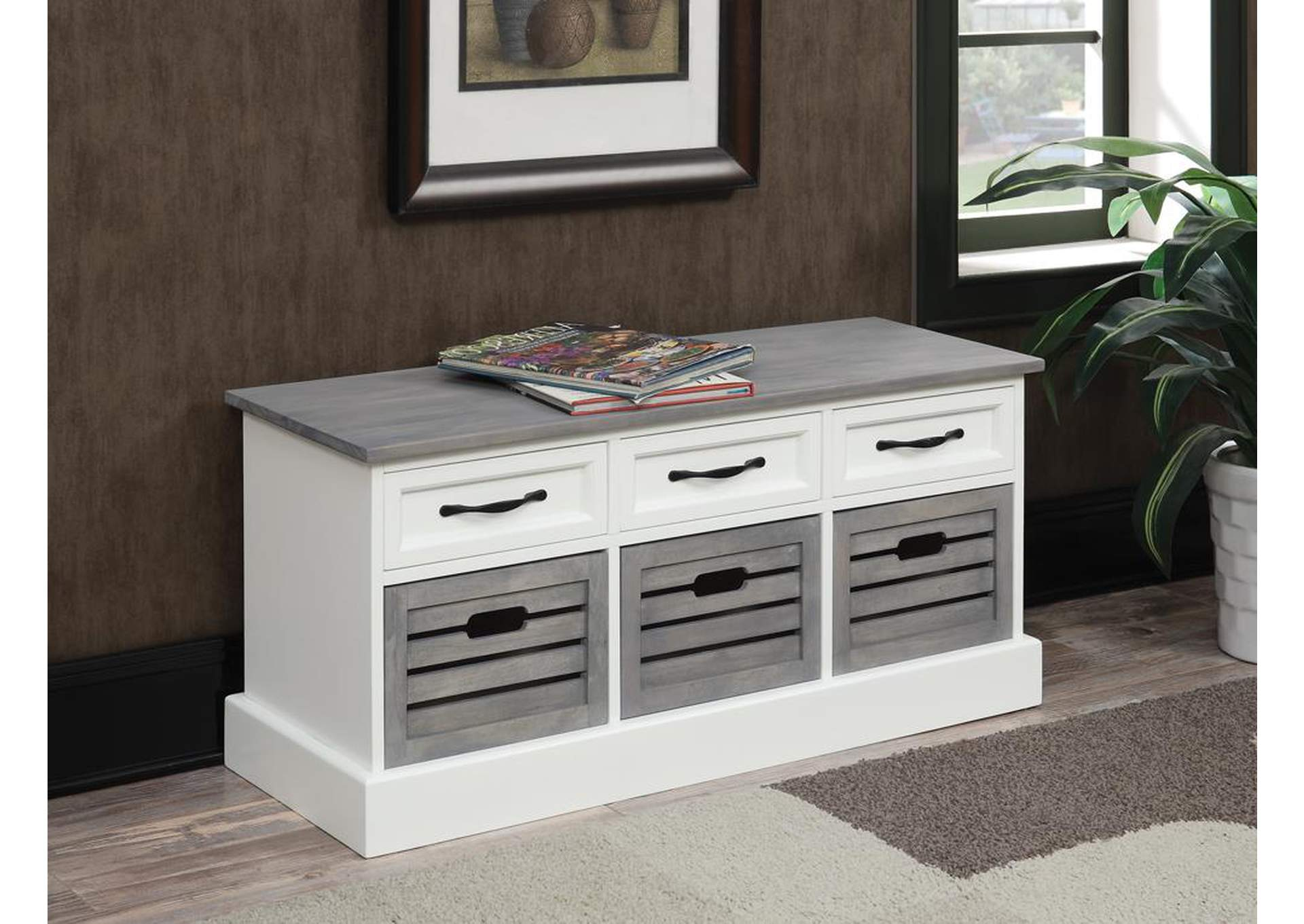 White/Grey Accent Cabinet,Coaster Furniture