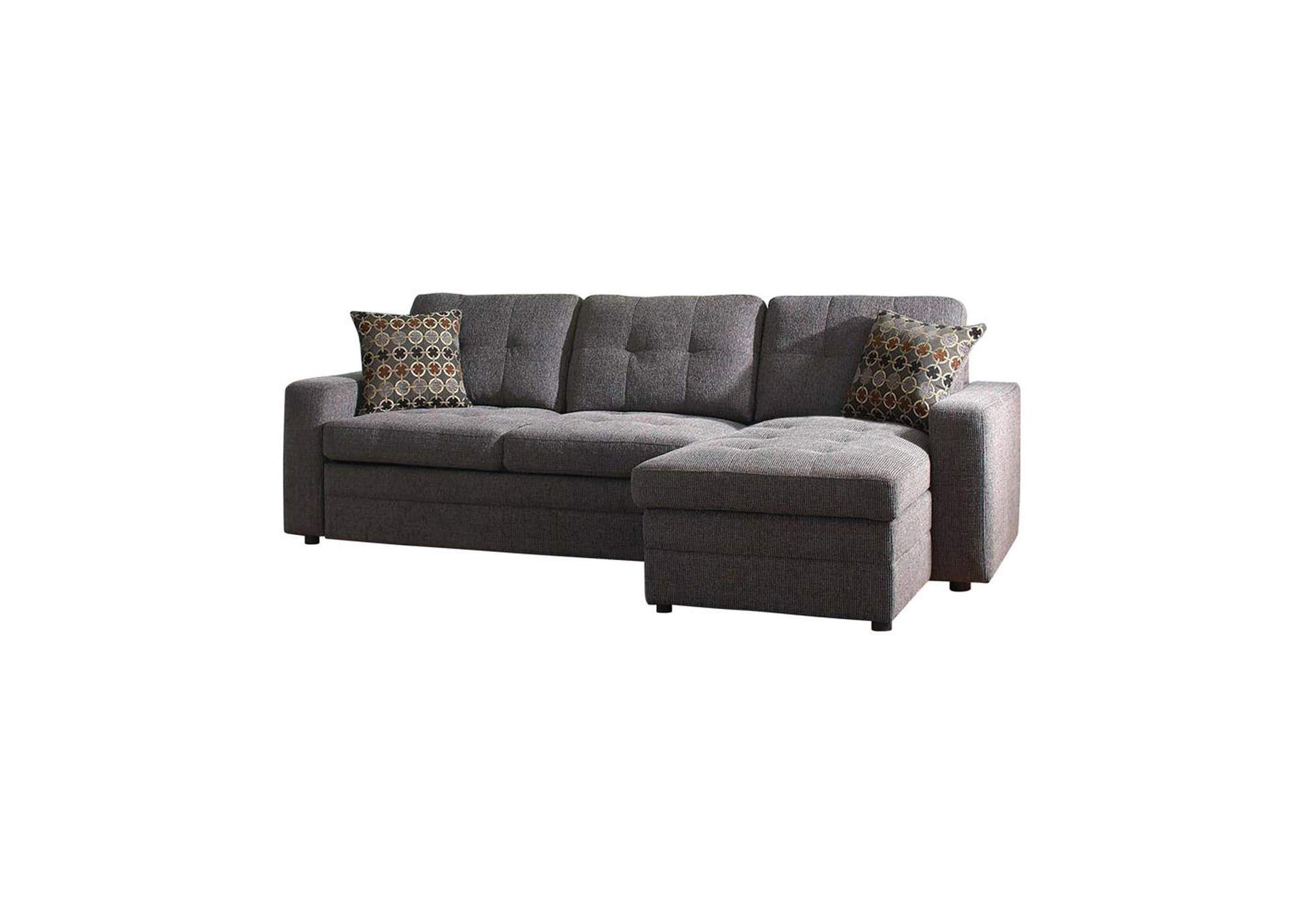 Gus Charcoal Sectional,Coaster Furniture