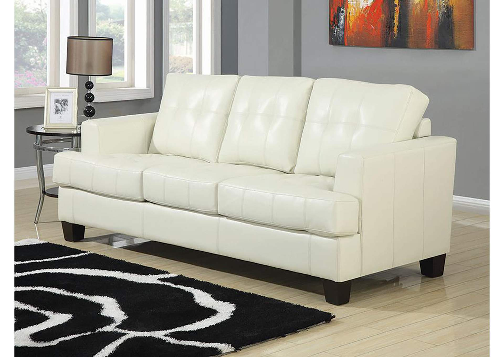 Samuel Cream Sleeper Sofa,Coaster Furniture