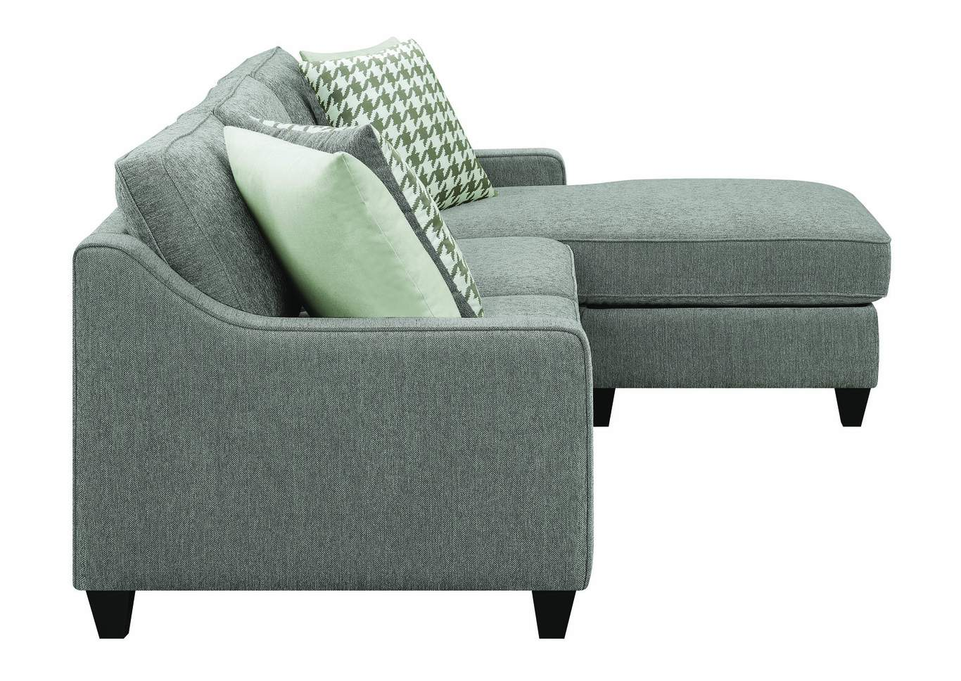 Charcoal Gray Sectional,Coaster Furniture