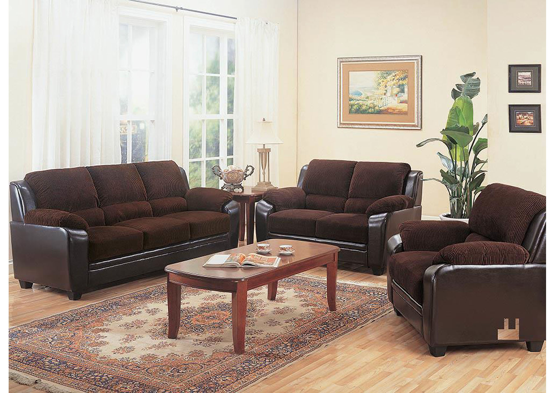 Monika Chocolate Love Seat,Coaster Furniture