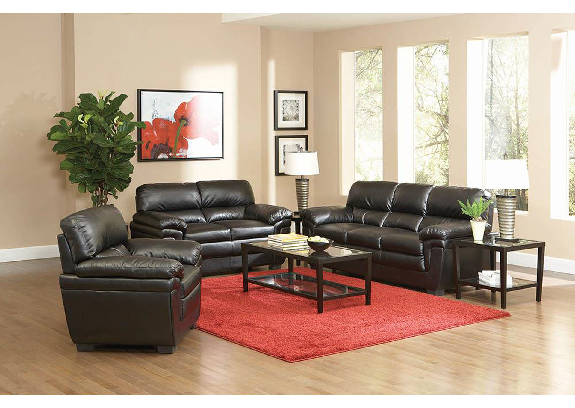 Fenmore Black Love Seat,ABF Coaster Furniture