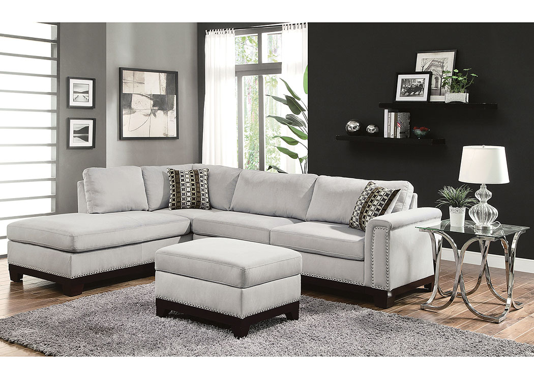 Mason Blue Grey Sectional,Coaster Furniture