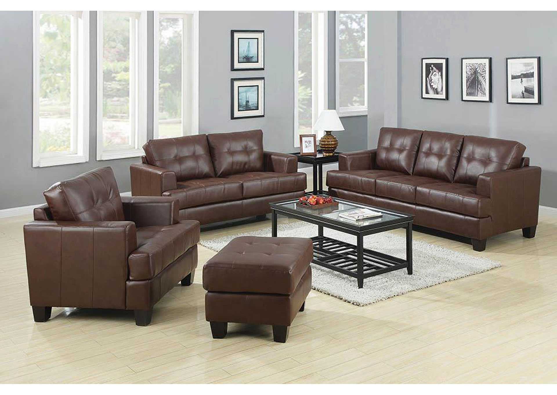 Home Stars Furniture Samuel Dark Brown Sofa