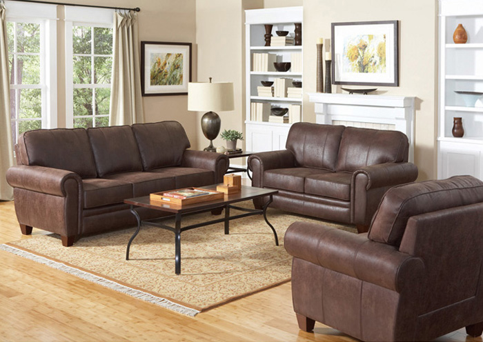 Bentley Brown Sofa & Love Seat,Coaster Furniture
