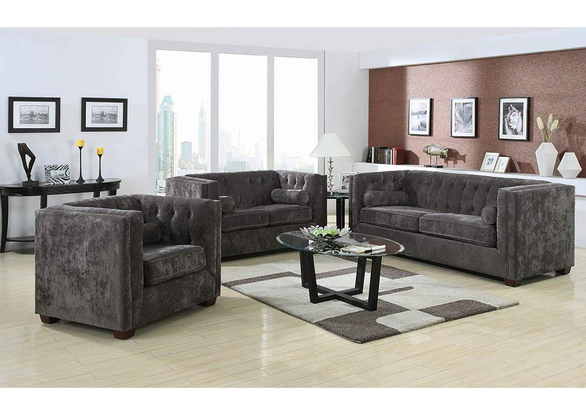 Alexis Charcoal Sofa,Coaster Furniture