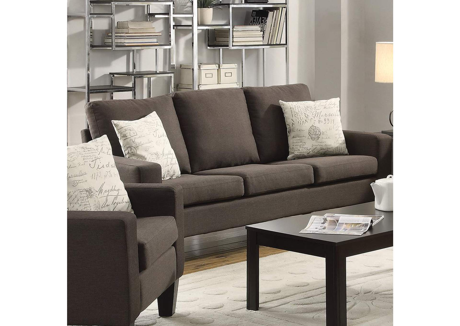 Bachman Grey Sofa,Coaster Furniture