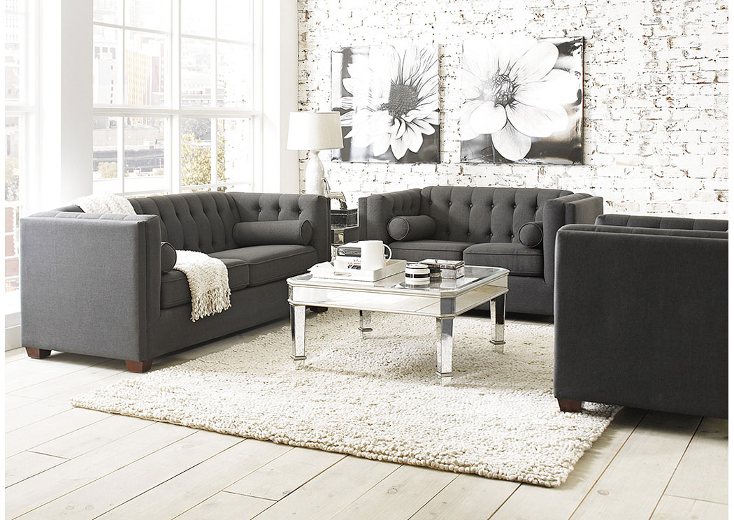 Cairns Brown Sofa & Loveseat,Coaster Furniture